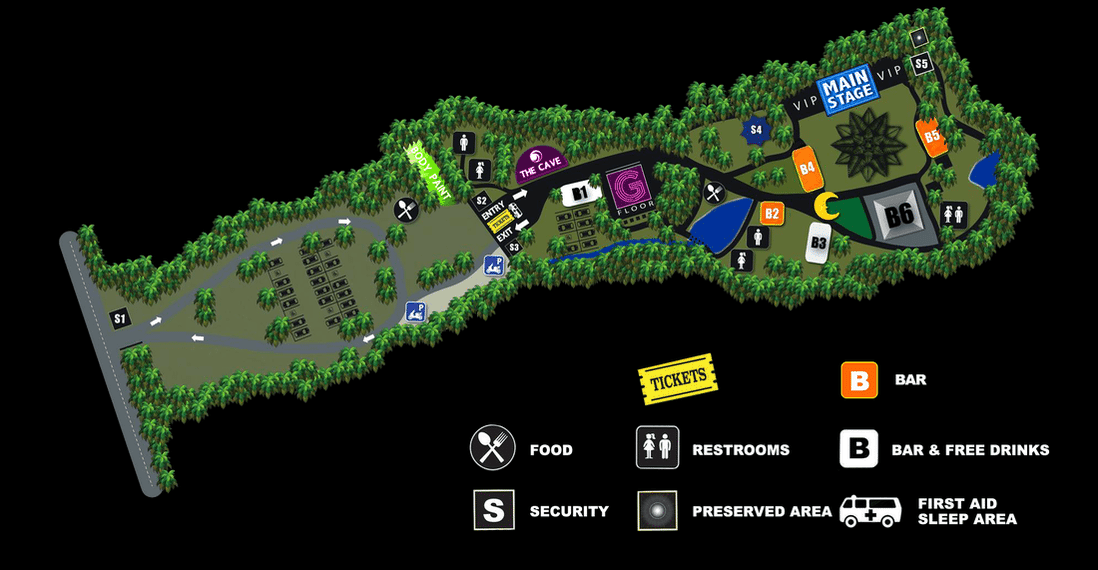 Half Moon Party area map