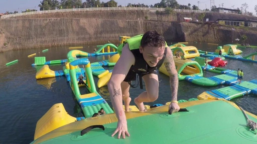 The Grand Canyon Waterpark is like something from a Japanese game show.