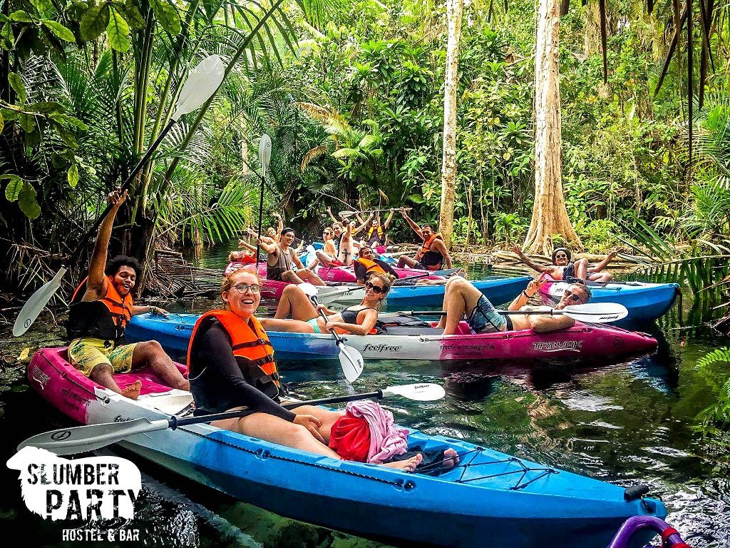 We are the only Ao Nang hostel that will take you on a Secret Kayak Tour on crystal clear waters in Krabi's jungle.