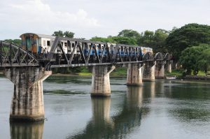 Take a day trip from Bangkok to see the Bridge on the River Kwai in Kanchanaburi.