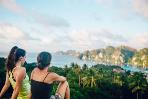 Watch the sunset from one of many viewpoints on your Krabi vacation