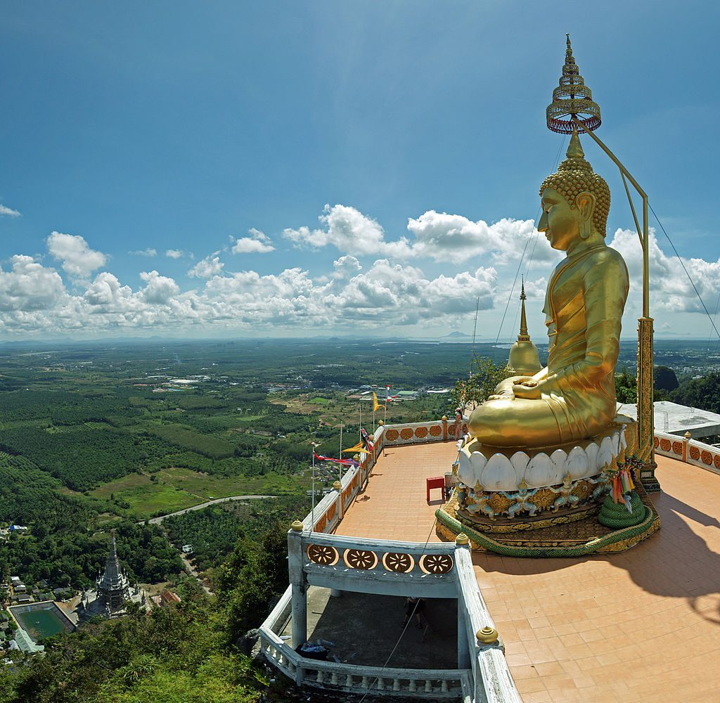 Viewpoint from Krabi Town's Tiger Cave Temple