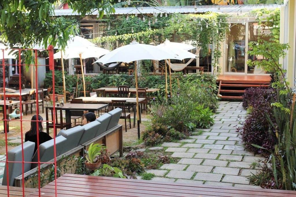 Rustic & Blue has the coolest outdoor environment of any healthy restaurant in Chiang Mai.
