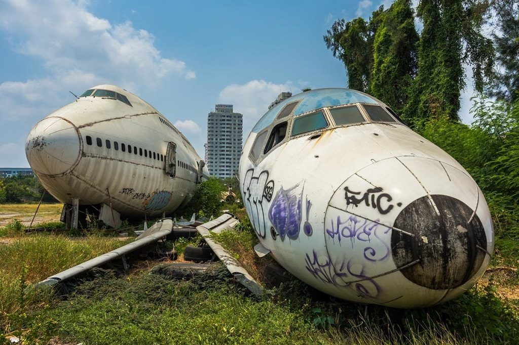 The Bangkok airplane graveyard is ominous but exciting. unusual experiences in bangkok
