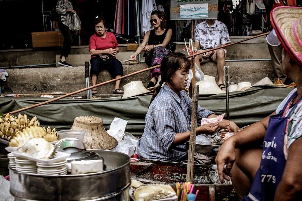 Floating markets are a great way to experience the typical Thai market in a brand new way.