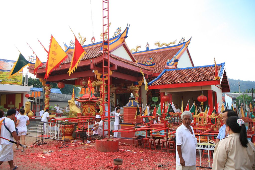Sing your praises with local Thais at the Phuket Vegetarian Festival