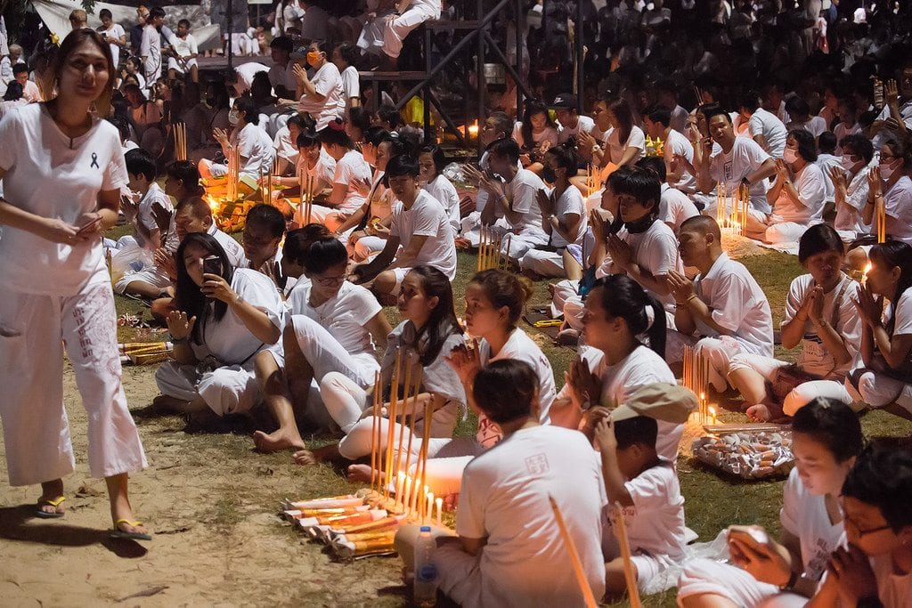 Phuket Vegetarian Festival is partly about the food, partly about praising the 9 Tao Emperor Gods.