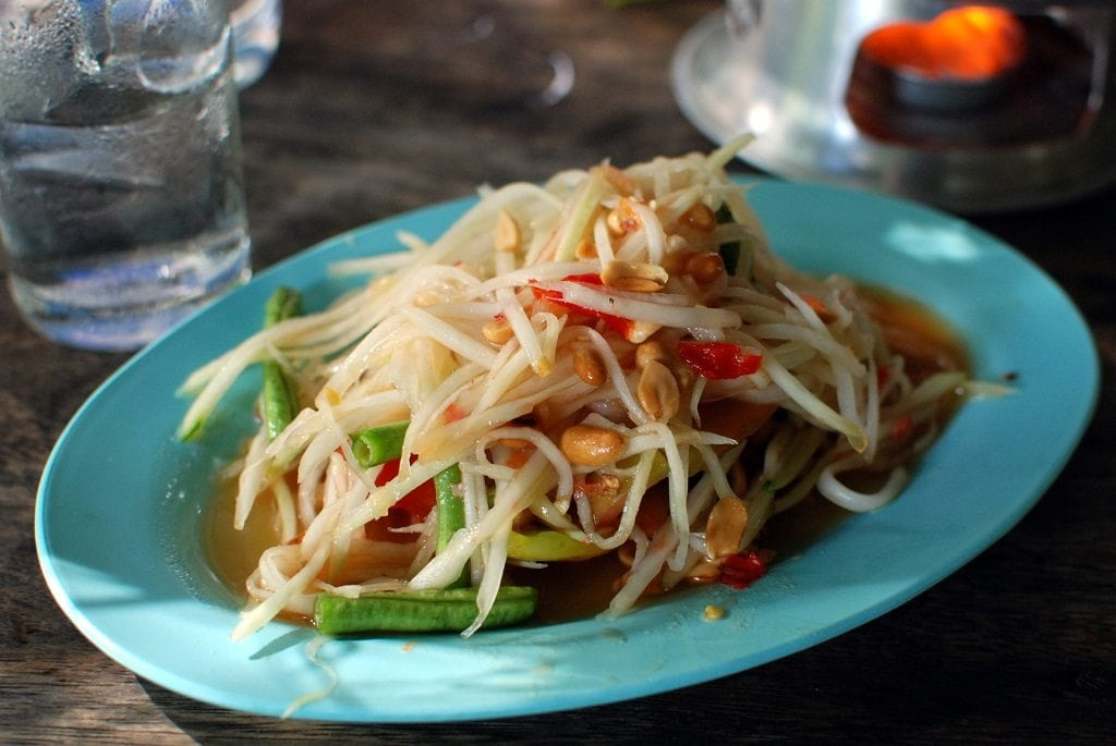 Your street food in Phuket tour won't be complete without a plate of Som Tam!