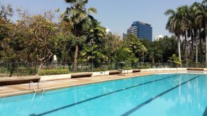 Benjasiri Park is the cheapest place to go swimming in Bangkok