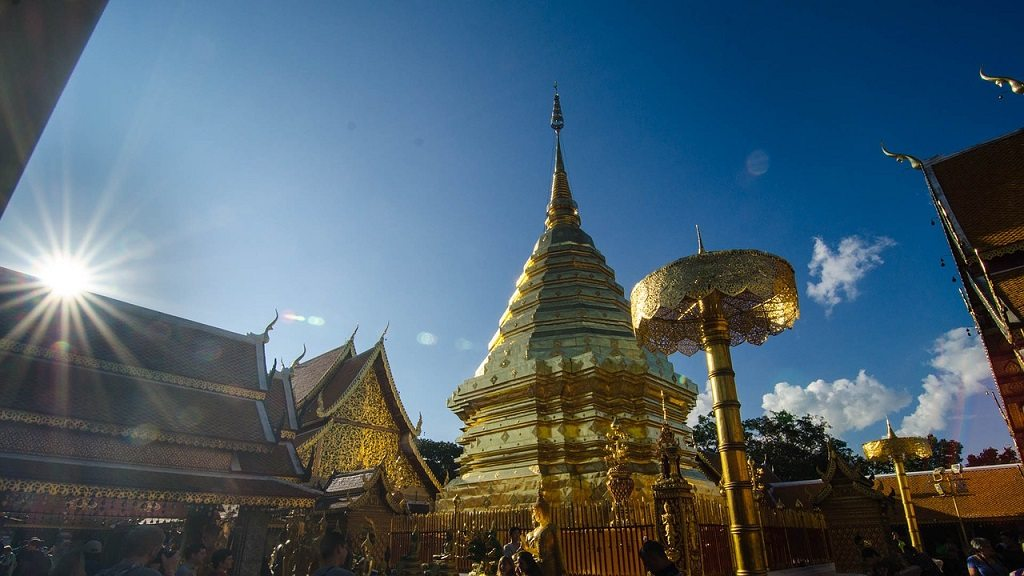 Wat Doi Suthep, the most famous of all Chiang Mai temples