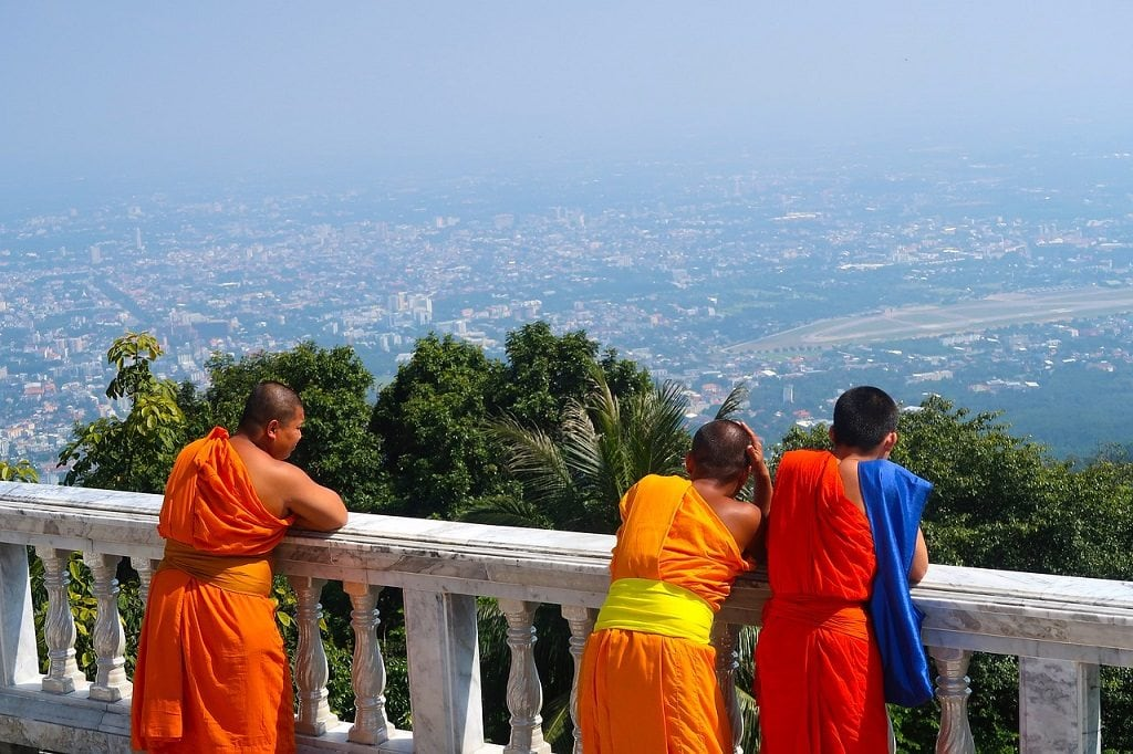 Wat Doi Suthep houses around 700 Buddhist monks.