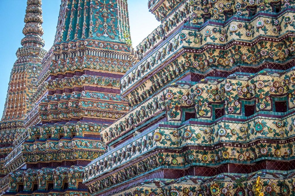 Wat Pho has some impressive Buddhist architecture, both inside and out.