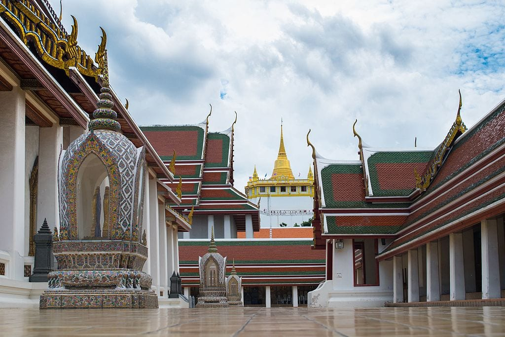 The architecture of Wat Saket is truly impressive.