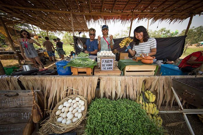 Fresh, organic food will be available at Wonderfruit 2018
