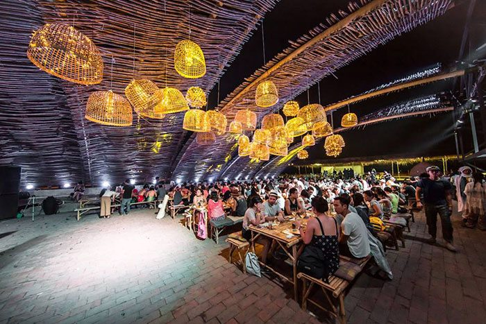 Art installations and Thai food become one in the food court of Wonderfruit 2018