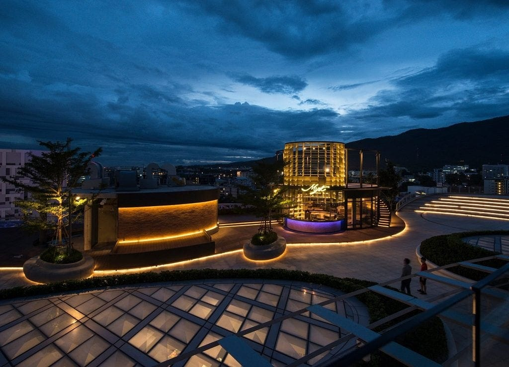 Myst is an underrated rooftop bar in Chiang Mai for watching the sunset.