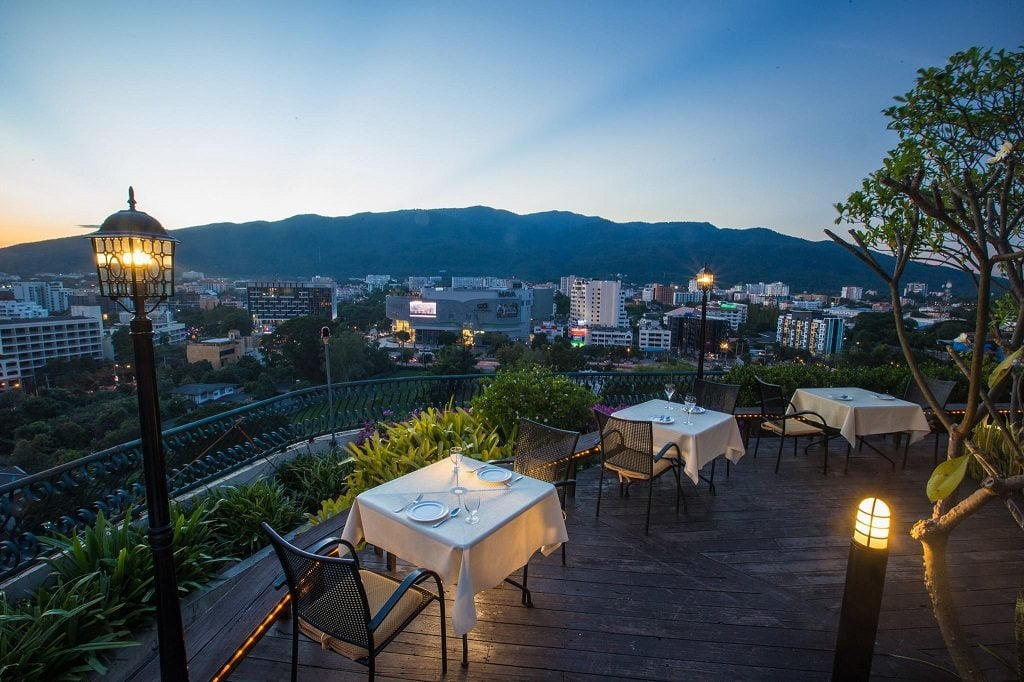 Xanada is the most scenic view of any sunset bar in Chiang Mai.