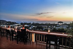 Rooftop bars in Phuket are the best way to experience the sunset.