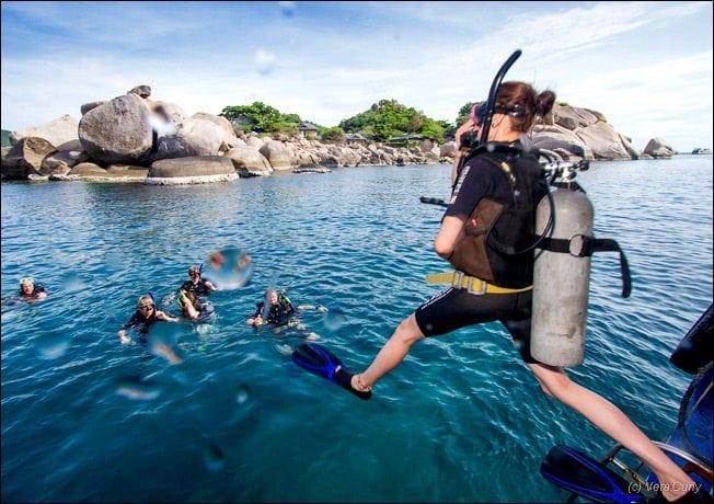 learning to dive in koh tao