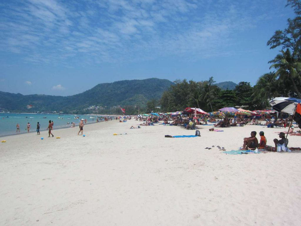 patong beach people busier best beaches in phuket