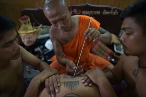 thai tattoo monk sak yant artist