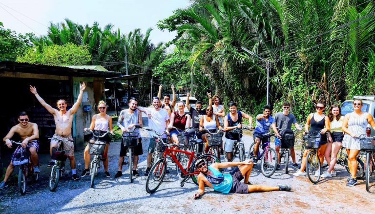 slumber party hostel bangkok bike adventure tour bang kachao